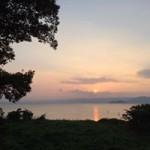 竹生島の夕陽