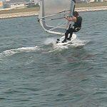 今日は紀ノ川でウインドサーフィン